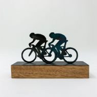 David Mayne 'The Race' Miniature Bicycle Steel Sculpture